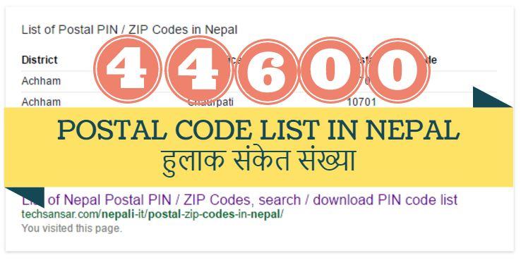 Chitwan nepal postal code
